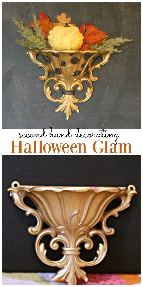 Quick Easy Halloween Glam for second hand decorating | Halloween Decor | TodaysCreativeLife.com