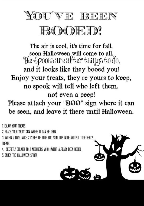 You've been Booed Printable | Make Halloween even MORE fun for the neighborhood! Get your free printable on TodaysCreativeLife.com