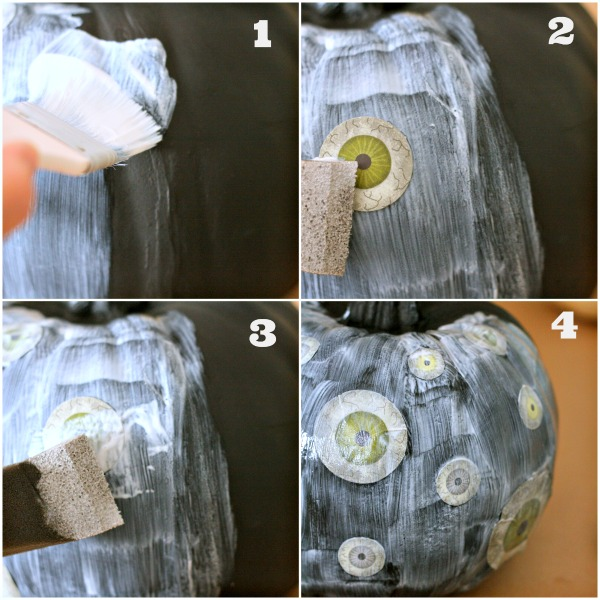 No Carve Decoupaged Pumpkins | TodaysCreativeBlog.net