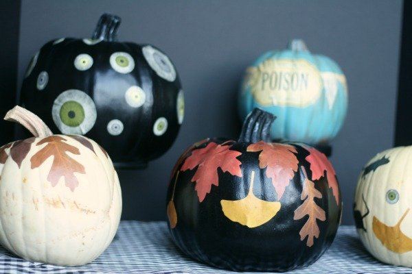 No Carve Decoupage Pumpkins | TodaysCreativeBlog.net