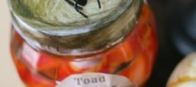 diy halloween apothecary jar