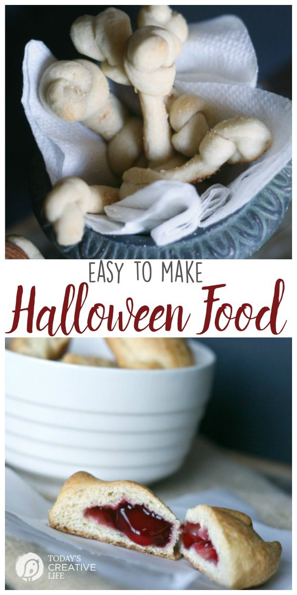 Halloween Food Ideas | Easy to make halloween party food ideas. Find easy recipes on TodaysCreativeLife.com