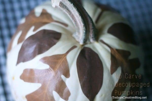 No Carve Decoupage Pumpkins | TodaysCreativeBlog.net