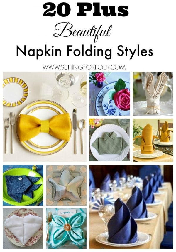 How to Fold Napkins for Holiday Dinners | Setting For Four