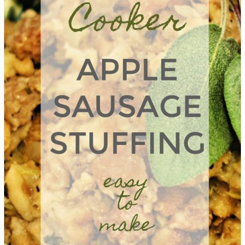 Crockpot Stuffing Recipe | Apple Sausage with Pecan Dressing Recipe | Slow Cooker Thanksgiving | TodaysCreativeLIfe.com