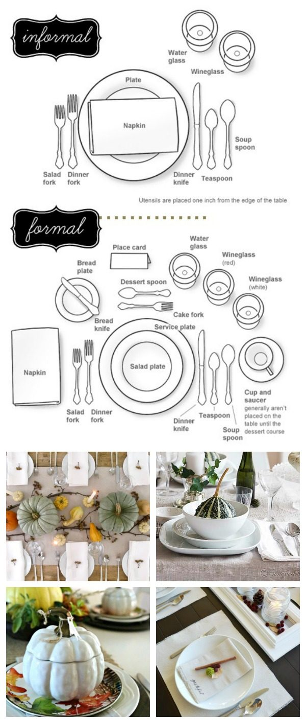How to Set a Table | Follow this easy diagram for setting your holiday table. TodaysCreativeLife.com