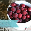 Winter Sangria - frozen cranberries