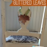 Glittered Leaves | TodaysCreativeBlog.net