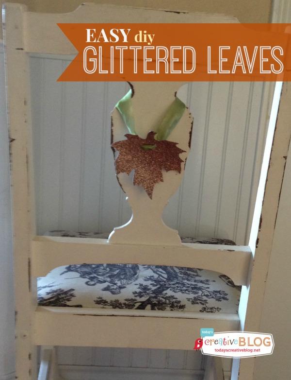 Glittered Leaves | TodaysCreativeBlog.net