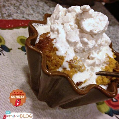 CrockPot Crustless Pumpkin Pie | TodaysCreativeBlog.net