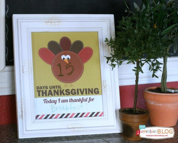 Thanksgiving Printables | TodaysCreativeBlog.net