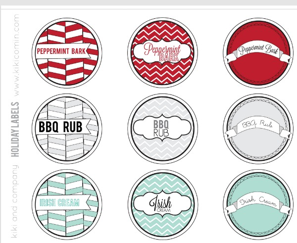 Printable Christmas Labels | TodaysCreativeBlog.net