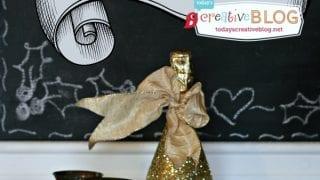 How to Make Glittered Champagne Bottles