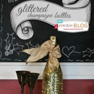 How to Make Glittered Champagne Bottles