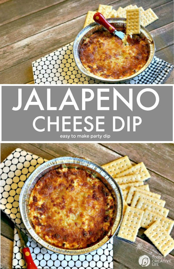 Jalapeno Cheese Dip | Hot Baked Party Dip | Easy to make | Game Day Football Food | Dips made with Cream Cheese | party food recipes | Easy to make appetizer | TodaysCreativeLife.com