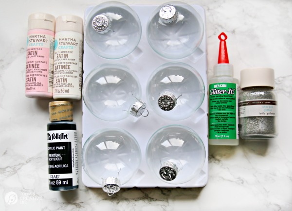 how to make glitter painted glass ornaments todays creative life - How To Polish Glass