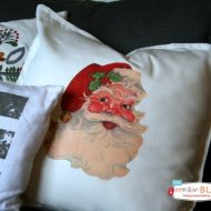 DIY Iron On Santa Pillow