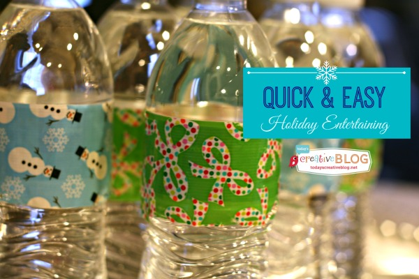 Duck Tape Wrapped Water Bottles | TodaysCreativeBlog.net