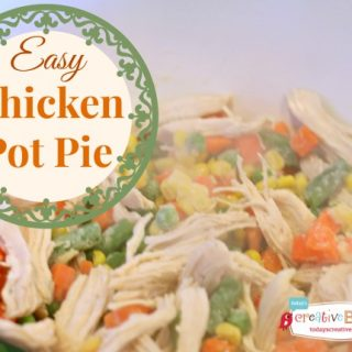 Easy Chicken Pot Pie Recipe | Find more delicious dinner ideas on TodaysCreativeLife.com