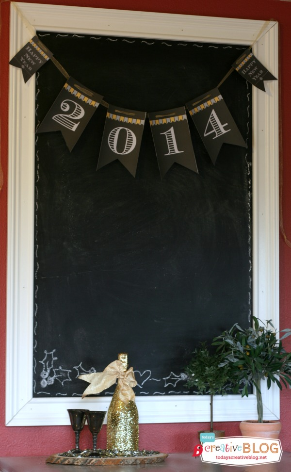 2014 Happy New Year Printable Banner | TodaysCreativeBlog.net