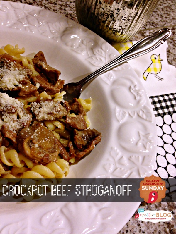 Crock Pot Beef Stroganoff | Slow Cooker Sunday | TodaysCreativeBlog.net