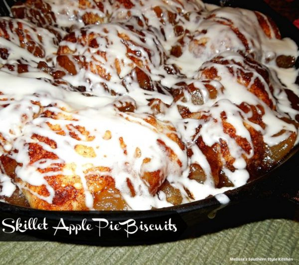 Skillet apple pie Biscuits from Melissa's southern style Kitchen