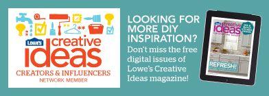 Lowe's Creative Ideas | TodaysCreativeBlog.net