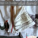 Iron on Transfer dish towels | TodaysCreativeBlog.net