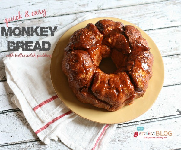 Monkey Bread Recipe Butterscotch Pudding | TodaysCreativeBlog.net