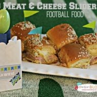 Football Food Ideas | 3 Meat and Cheese Sliders | TodaysCreativeBlog.net