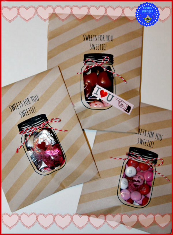 Featured on Link Party Palooza | TodaysCreativeBlog.net | http://hooplapalooza.blogspot.com/2014/02/cut-out-mason-jar-valentine-treat-bags.html
