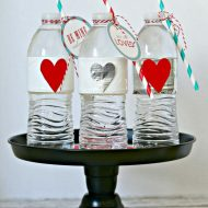 Valentine Party Water Bottles with Duck Brand®