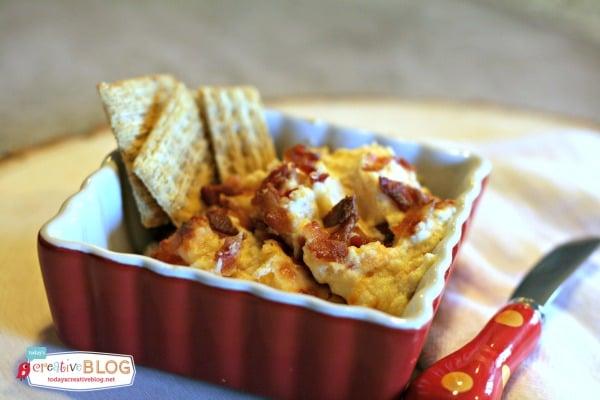 Hot  Cheesy Bacon Dip |TodaysCreativeBlog.net