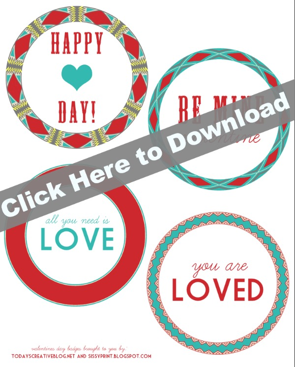 Printable Valentine Tags | TodaysCreativeBlog.net