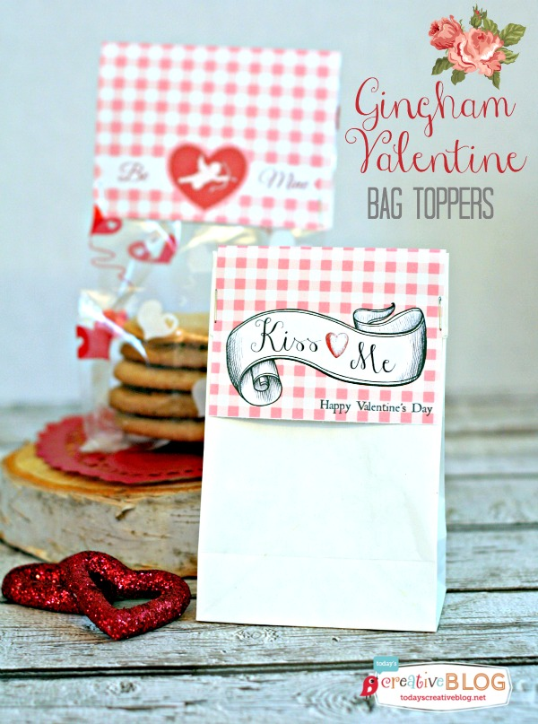 Printable Valentine Bag Toppers | TodaysCreativeBlog.net