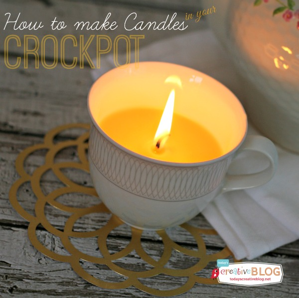 Make Candles in your Crockpot | TodaysCreativeBlog.net