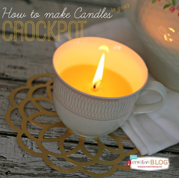 Make Candles in your Crockpot | TodaysCreativeBlog.net