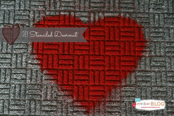 heart stenciled doormat | TodaysCreativeBlog.net