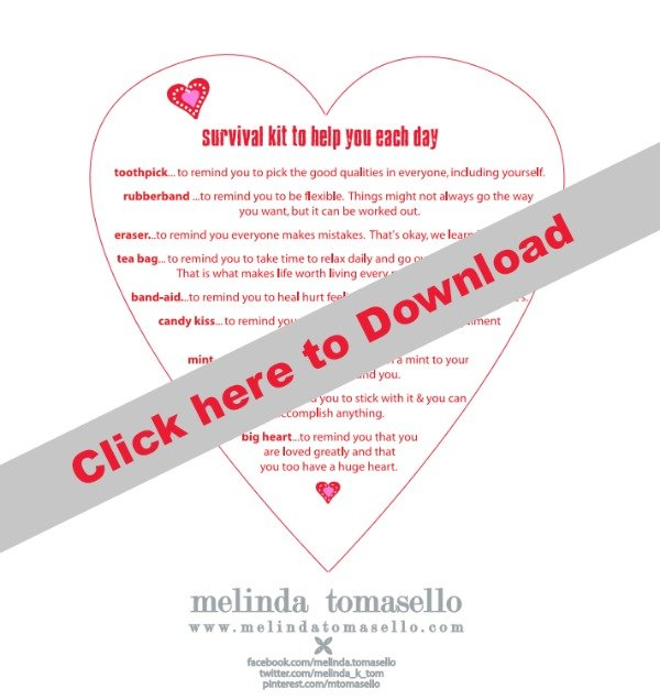Free Valentine Survival Kit Printable