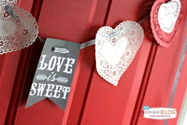Valentines Day Chalk board printable