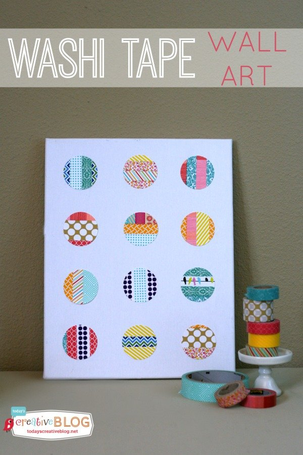 DIY Washi Tape Wall Art | TodaysCreativeBlog.net