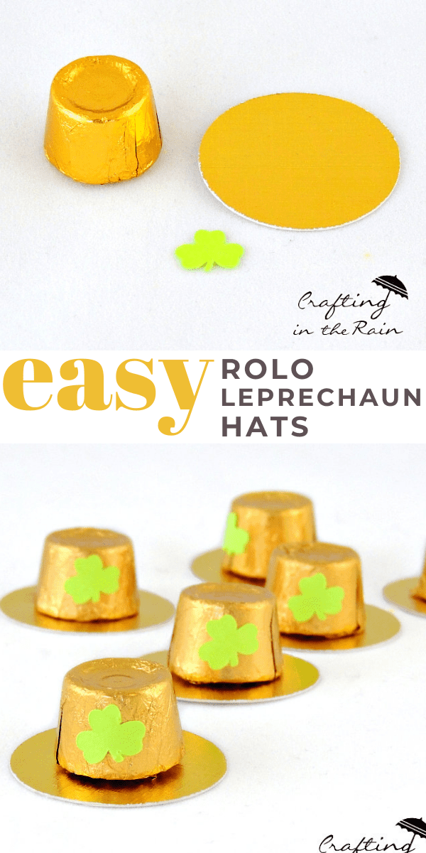 St. Patrick's Day Leprechaun Hats Craft Idea made from Rolo Candies