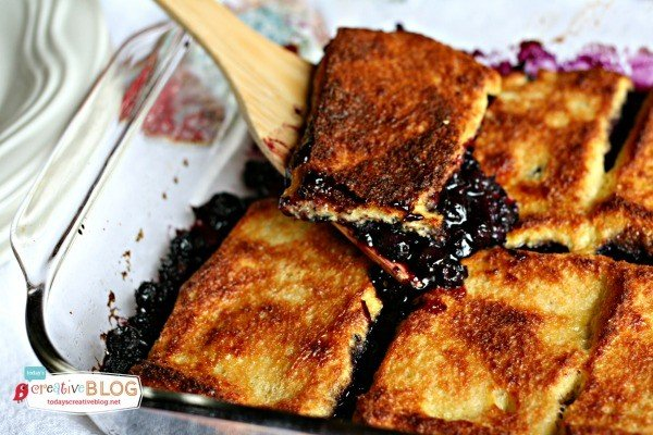 Overnight Blueberry French Toast Casserole | TodaysCreativeBlog.net