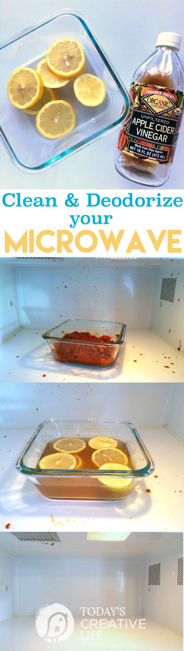 How To Clean And Deodorize A Microwave This Cleaning Method Is Non Toxic Using