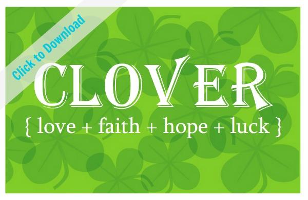 Free Clover Printable   TodaysCreativeBlog.net Melinda Tomasello
