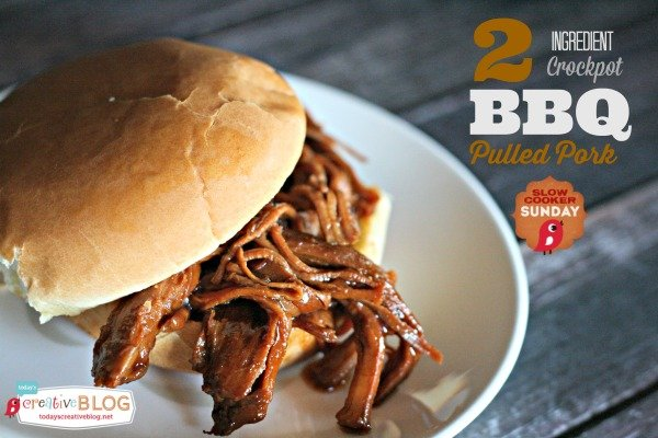 Easy Crockpot BBQ Pulled Pork | Slow Cooker Pulled Pork Sandwich Recipe from Today's Creative Life