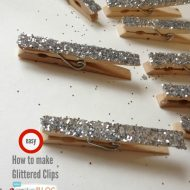 Glittered Clothespins | TodaysCreativeBlog.net