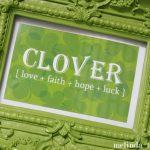 Free Clover Printable | TodaysCreativeblog.net