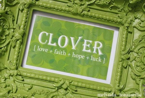 Free Clover Printable | TodaysCreativeblog.net