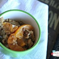Crockpot Peach Pie Cobbler {Slow Cooker Sunday}